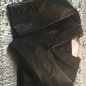 Ladies Size 18 Black Leather Short Jacket
